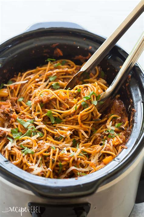 cooker spaghetti healthier slow cooker spaghetti and meat sauce video