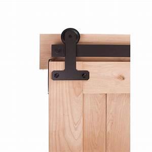 ironwood 7 ft cellar barn door system in dark bronze With 7 ft barn door track