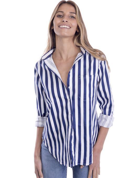 boyfriend striped dress regata blue and white striped boyfriend shirt camixa