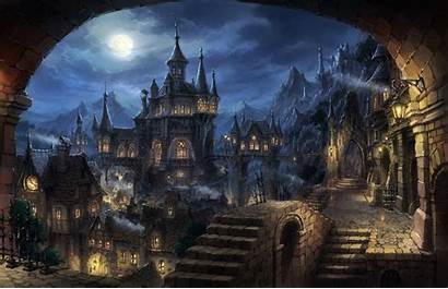 Fantasy Dark Cityscape Desktop Backgrounds Wallpapers Mobile