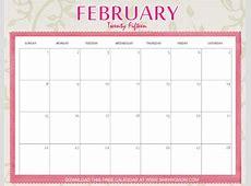 Designs You'll Love Free Printable February 2015 Calendar