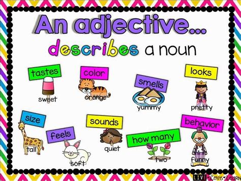 adjectives types  adjectives