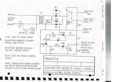 magnetek power converter model 6612 manual
