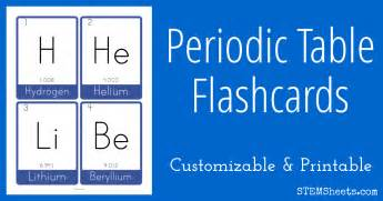 table decoration ideas periodic table flash cards stem sheets