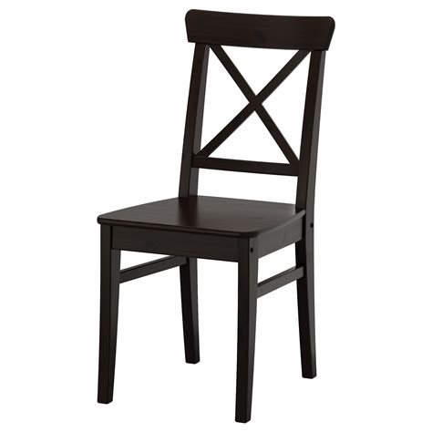 chaises design bois ingolf chair brown black ikea
