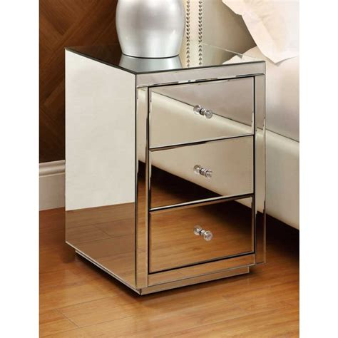 desk with drawers and mirror vegas mirrored bedside table 3 drawer mirror bedroom