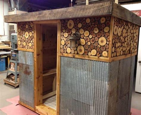 inexpensive diy wood burning hot tub  sauna design