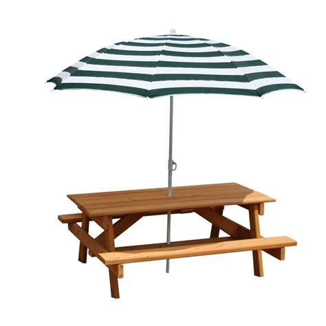 picnic table with umbrella hole gorilla playsets children 39 s picnic table with umbrella 02