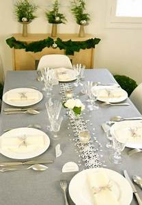 Table De Noel Blanche : d coration table de no l facile avec la box table de f te d co cool ~ Carolinahurricanesstore.com Idées de Décoration