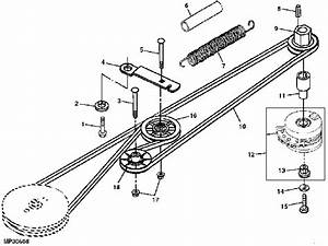 I Need Diagram For A Stx46 Deere Cutting Deck Belt And Spring