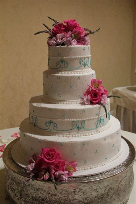 Pictures Of Blue And Pink Wedding Cakes Blue And Pink Wedd