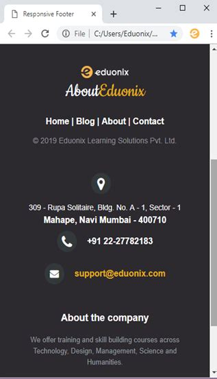 build  responsive website footer  html  css
