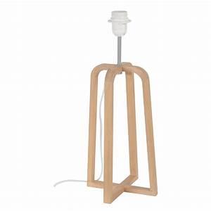 Lampe Sur Pied Scandinave : pied de lampe scandinave bois naturel 46 cm leroy merlin ~ Teatrodelosmanantiales.com Idées de Décoration