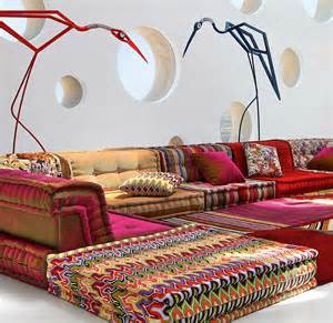Large Bohemian Floor Pillows by Dream Couch Missoni Bohemian Sofa The Cherie Bomb