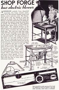Popular Mechanics 1941 Guide To Assembling A Forge Out Of