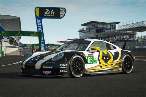 wolves racing reveal team  livery  virtual le mans