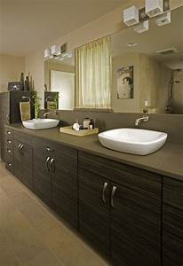 shoreline modern master bath With kitchen cabinets lowes with his and hers wall art