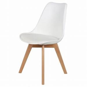 Chaise Scandinave Simili Cuir : chaise scandinave cuir simili blanc ericka lot de 4 pas ~ Teatrodelosmanantiales.com Idées de Décoration