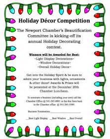 newport chamber holiday business decoration contest news