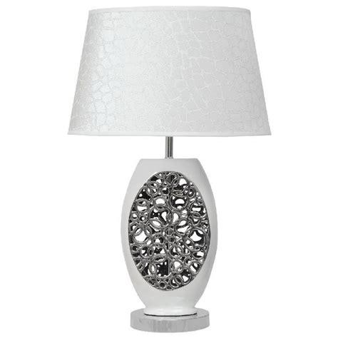 Lampe De Chevet Design Effet Bulles Céramique Blanc