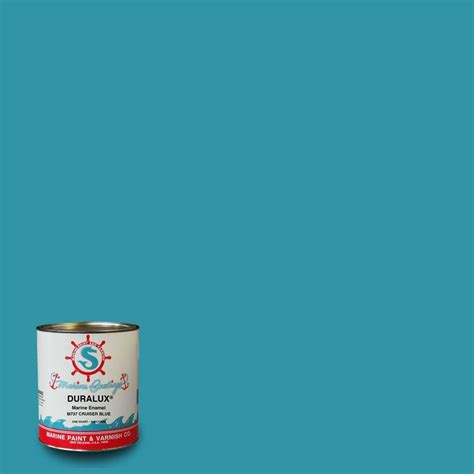 duralux marine paint 1 qt cruiser blue marine enamel m737 4 the home depot