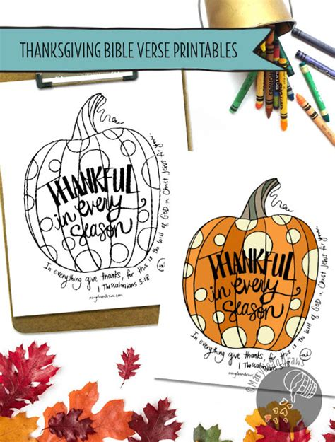 You may have heard of advent countdowns to christmas, but what about a countdown of thanksgiving bible verses. Thanksgiving Art Print & Coloring Page Printables - Marydean Draws