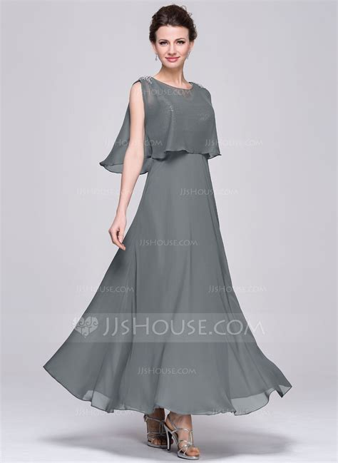 lineprincess  neck ankle length chiffon sequined