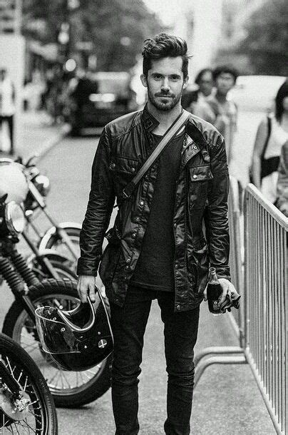 casual motorcycle riding pin by on men 39 s style pinterest