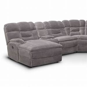 big softie 6 piece power reclining sectional with left With large grey sectional sofa with chaise