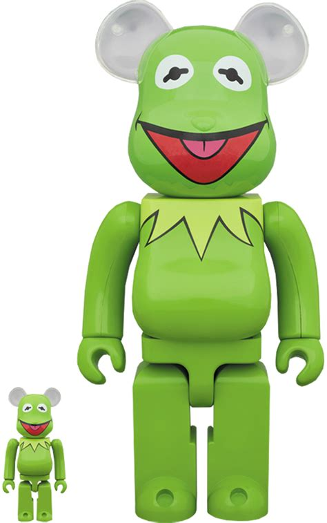 Disney Bearbrick Kermit the Frog 100 and 400 Collectible ...