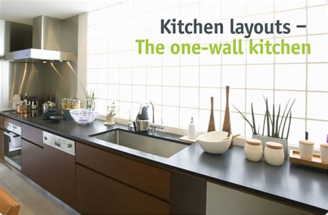 one wall kitchen layout with island clever storage the one wall kitchen 8988