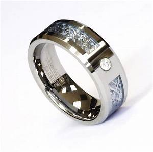 8Mm Silver Celtic Dragon Cz Blue Tungsten Carbide Ring Men