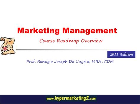 marketing management course vcoach marketing management course overview