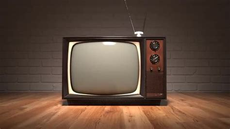 Old Vintage Television Set Retro Color Tv Oldschool