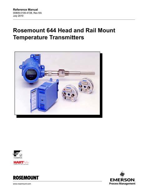 rosemount 644 head and rail rosemount 644 head and rail temperature transmitters