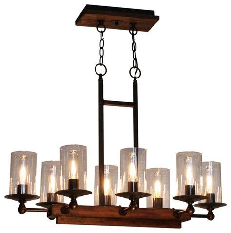 artcraft ac10148bu legno rustico island light rustic