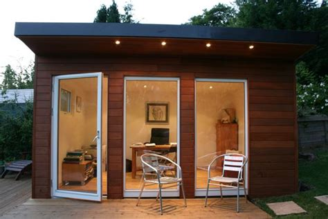 Backyard Shed Office by Refresheddesigns 11 Reasons To Turn A Garden Shed Into