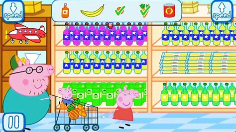Peppa Pig Grocery Shopping Daddy Pig With George Go Shopping  Peppa In The Supermarket Youtube