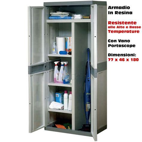 Armadietti Da Esterno In Resina by Armadio In Resina Per Esterno Scaffale Portascope 2 Ante