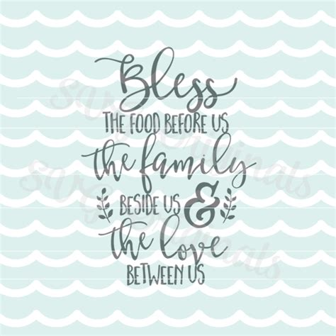 bless  food   prayer quote svg cutting file