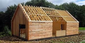 Charpente Traditionnelle Bois En Kit : charpentes en ossature bois combles de maisons ~ Premium-room.com Idées de Décoration