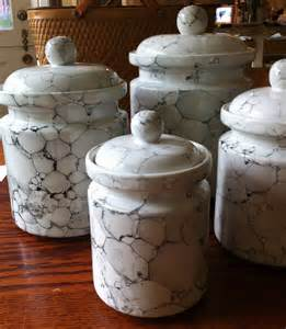 glass canister set for kitchen white kitchen canister set ceramic marble glaze