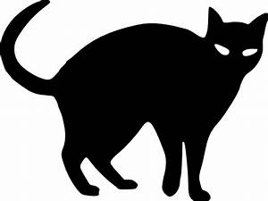 halloween cat outline | cat silhouette clip art | Projects ...