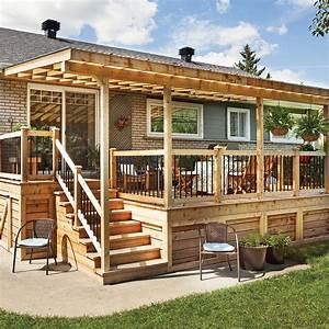 rallonge trois saisons pour le patio patio With idee amenagement exterieur maison 5 gazebo et abri soleil des idees pour jardin avec piscine