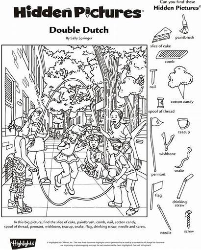 Hidden Objects Puzzles Object Highlights Printables Pages
