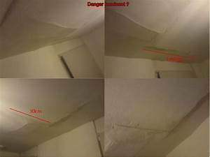 Fissure Au Plafond : fissure plafond risque d 39 effondrement 4 messages ~ Premium-room.com Idées de Décoration