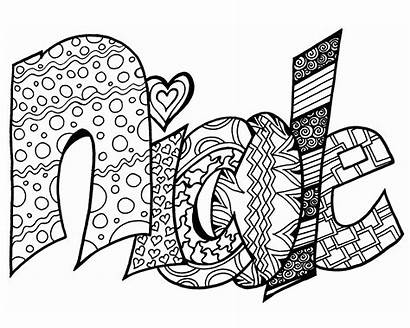 Coloring Pages Printable Nicole Names Graffiti Printables