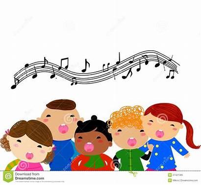 Singing Children Royalty Illustration Dreamstime