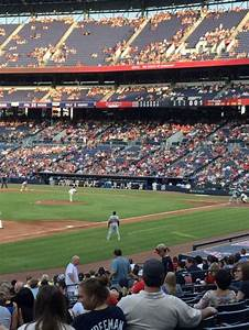 Braves Seating Chart View Turner Field Section 122 Home Of Atlanta Braves