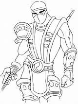 Mortal Kombat Coloring Scorpion Kitana Printable Getcolorings Template Sub Zero Boys Characters Sheets Deadpool Adults Atv Games Xl Exclusive sketch template
